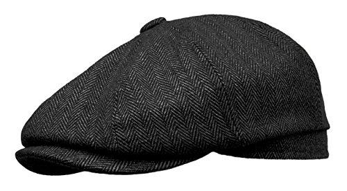 Rooster Herringbone Wool Tweed Newsboy Gatsby Ivy Cap Golf Cabbie Driving Hat (Medium, ()