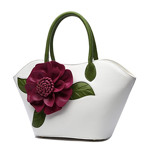 Messenger Chinese Handbag handle QZUnique Top Handbags Vintage White 2 Bags Flower Bags Style zwddS1