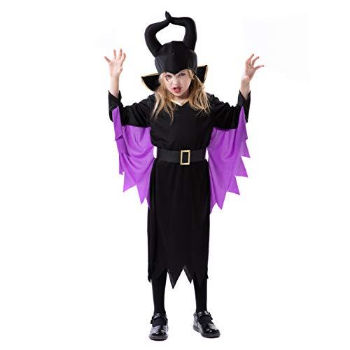 Maleficent Halloween Horns (RJ Legend Evil Witch Cosplay - Halloween Devil Costume Dress Up with Horns for Little Girls,)