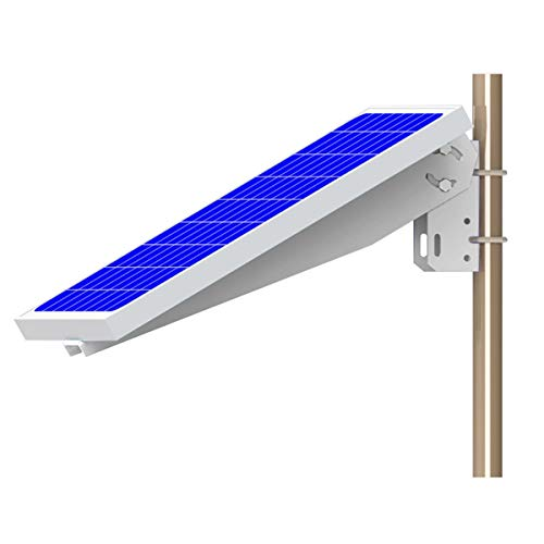 Unlimited Solar Universal Solar Panel Single Arm Pole, Wall Mount for 10W, 20W, 30W and 40W -