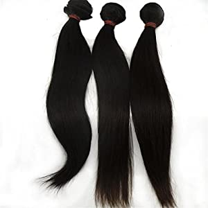 Vedar Beauty Woman's 100% Remy Virgin Indian Hair Extension Straight 3Pcs/Lot Size:20inch3