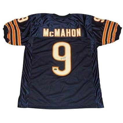 buy online ce7c3 d5df3 Jim McMahon Autographed Signed Auto Chicago Bears Blue #9 ...
