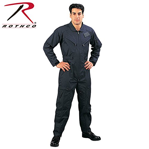 Military Combat Coveralls (Rothco Flight Coverall, Navy Blue, 3X)