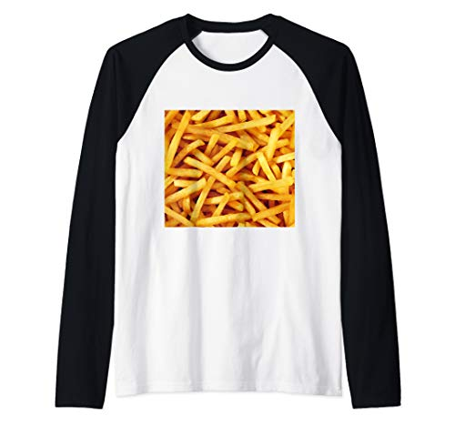 Halloween Matching Group Costume Idea French fries  Raglan Baseball Tee