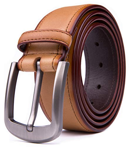 Men Genuine Leather Belts, Fashion & Classic Design for Casual and Dress (30, 4 Tan)