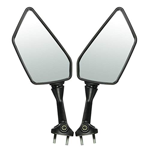 - Weemoment Motorcycle Black Left and Right Rearview Side Mirror for Kawasaki Ninja 250R EX250 2008-2013