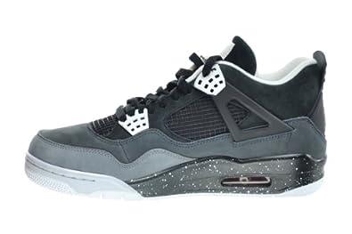 size 40 693f2 f8c18 Amazon.com   Jordan Air 4 Retro Men s Basketball Shoes Black White-Cool Grey -Pure Platinum 626969-030   Basketball