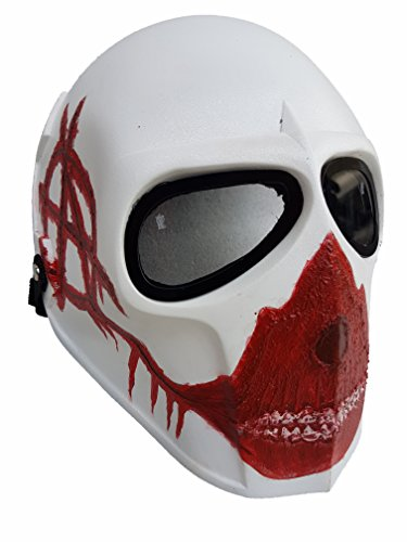 Invader King Red Ape Airsoft Mask Paintball Protective Gear Outdoor Sport Fancy Party Ghost Masks Cs War (Skull Replica Ape)