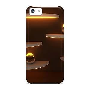 Durable Golden Spheres Back Case/cover For Iphone 5c WANGJING JINDA