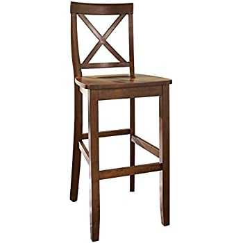 Crosley Furniture X-Back 30-inch Bar Stool - Classic Cherry (Set of  sc 1 st  Amazon.com : 30 inch bar stools with backs - islam-shia.org