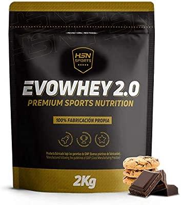 Whey Protein Concentrate de HSN | Concentrado de Proteína de Suero Evowhey Protein 2.0 | Batido de Proteínas en Polvo, Vegetariano, Sin Gluten, Sin ...