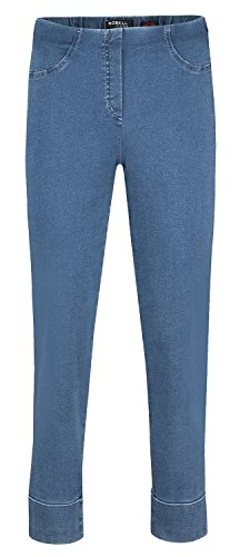 Bella Power Denim Avispas Mittelblau Pantalones 64 Stretch Robell Jeans Elástico dvqxvt