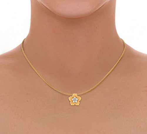 Or jaune 18K 0,06CT TW Round-cut-diamond (IJ | SI) Pendentif