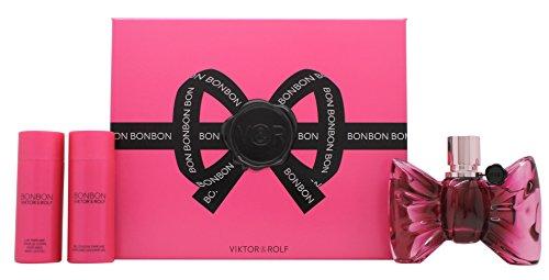 Viktor & Rolf Bonbon Gift Set 1.7oz (50ml) EDP + 1.7oz (50ml) Body Lotion + 1.7oz (50ml) Shower Gel - Rolf 1.7 Ounce Edp