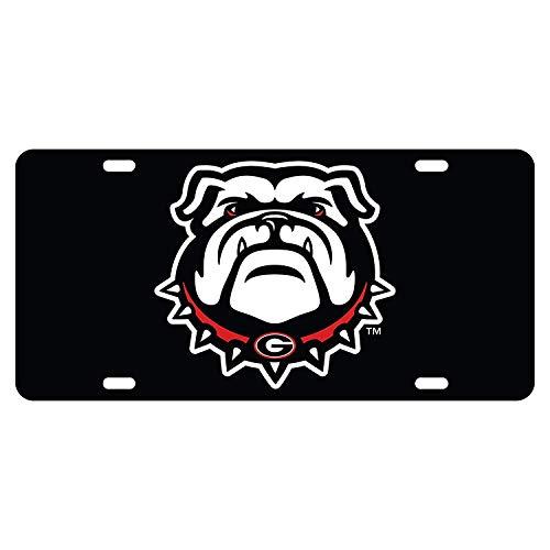 Cheeper Eletina Ds Cjx Georgia Bulldogs New Bulldog Logo Front Metal Aluminum License Plate Vanity Car Tag Home Door Sign 6 X 12 with 4 - Georgia Logo Plate Bulldogs