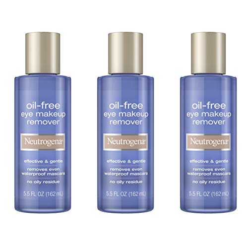 Neutrogena Oil-Free Liquid Eye Makeup Remover, Residue-Free, Non-Greasy, Gentle & Skin-Soothing Makeup Remover Solution…