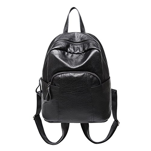 Resistant Bagleisure Women's Leather YANXH Large Backpack For Fashion Bags Black Water Capacity College Shoulder Travel CR0zqUwxz