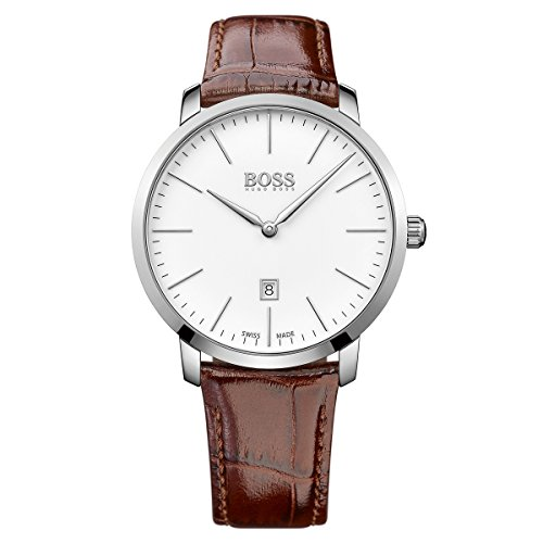 Hugo Boss Swiss Made Slim Mens Watch 1513255 (Hugo Watch Slim Boss)