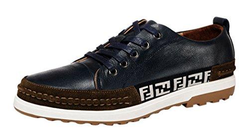 WUXING Christmas Men's Personal Letters Cotton Cloth Design Matching Shoes(9 D(M)US,blue)