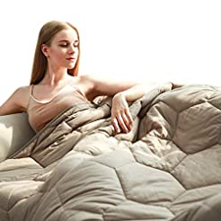 YEMYHOM 100% Cotton Weighted Blanket Adu...