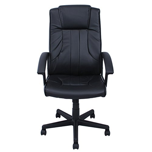 Ergonomic Black Leather Office Executive Chair Computer Hydraulic