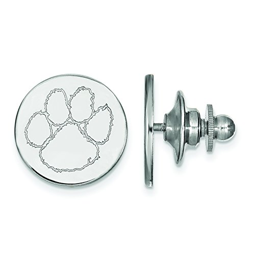 Clemson Lapel Pin (Sterling Silver) by LogoArt (Image #3)