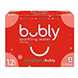 Bubly Strawberry Sparkling Water, Strawberry, 355 milliliters