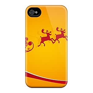 High Grade Phone Case Flexible Tpu Case For Iphone 4/4s - Santa Is Coming For Christmas Holidays