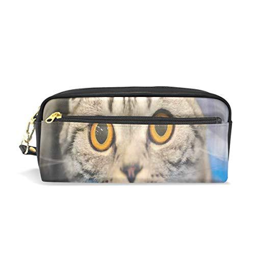 Pencil Case/Makeup Bags 3D Funny Cat Blurred Big Capacity Portable Pencil Bag for College Students/Women/Adults