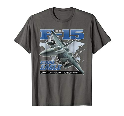 Aviation Tees: F-15 Strike Eagle Day or Night Jet T-Shirt