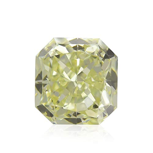 Leibish & Co 0.65Cts S-T, Light Yellow Loose Diamond Natural Color Radiant Cut IGI Certified