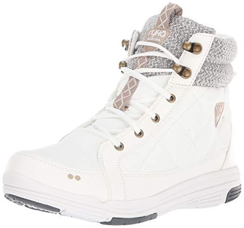 Ryka Women's Aurora Ankle Boot, Bright White, 9 M US
