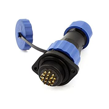 1x SD20-12 Waterproof Aviation Cable Connector w Socket 12P IP68 AC 250V//5A