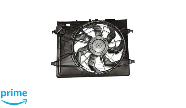 TYC 621710 Hyundai Elantra Replacement Radiator//Condenser Cooling Fan Assembly