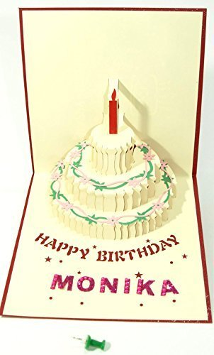 Beautiful New Convertible Greeting Card Name Card Monika For