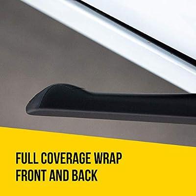 HumanFriendly Tesla Model 3 Full Coverage Door Handle Vinyl Car Wrap Kit - 4 pcs - Brushed Metal Black: Automotive