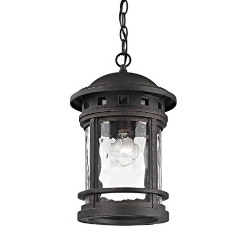 Costa Mesa 1 Light Outdoor Pendant In Weathered Charcoal Finish Ceiling - Mesa Costa Stores