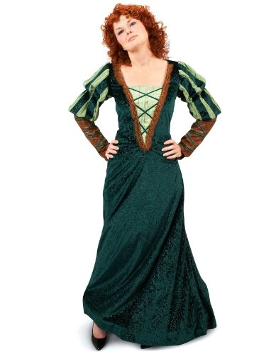 Princess Paradise Women's Forest Deluxe Costume, Green, Small (Brave Adult Costume)