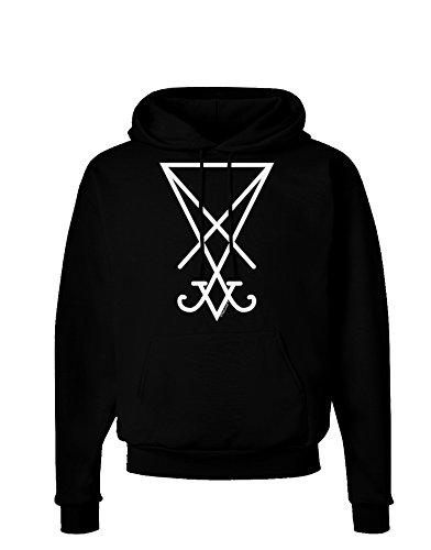 TooLoud Sigil of Lucifer - Seal of Satan Dark Hoodie Sweatshirt - Black - Large