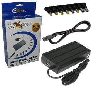 Ex-Pro–Portátil Fuente De Alimentación, adaptador de CA, cable de alimentación, 90W, voltaje de salida seleccionable, compatible con HP Compaq Presario X1217AP 18.5V 3.5A