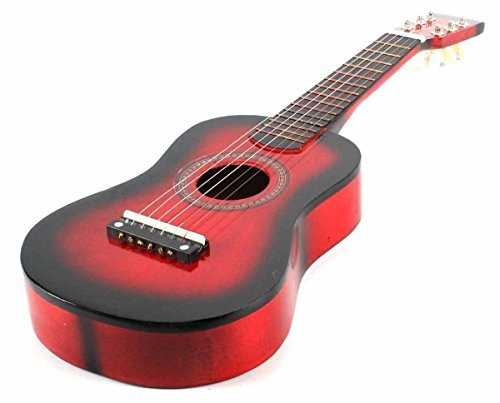 23 Inch Red Acoustic Toy Guitar for Kids - & DirectlyCheap(TM) Translucent Blue Medium Guitar Pick (Cheap Kids)