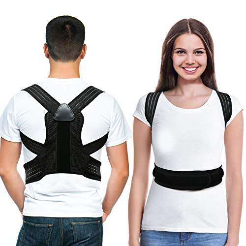 LOOTUS Back Posture Corrector for Women & Men,Relieves Shoulders and Upper Back Pain, Improves Posture & Corrects Hunching, Clavicle Support Adjustable Belt