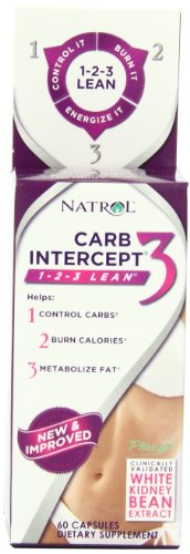 Natrol Carb Intercept 3 капсулы, 60-Count