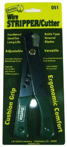 L.H. Dottie  DS1 Wire Stripper/Cutter, Adjustable with Cushion Grip