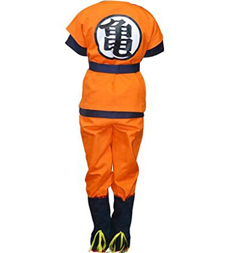 Poetic Walk Dragon Ball Z Son Goku Cosplay Uniform Costume Outfit (X-Large, (Best Goku Costume)