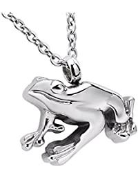 """Memorial Urn Pendant Necklace Stainless Steel Ashes Keepsake Cremation Jewelry 22"""" Chain"""