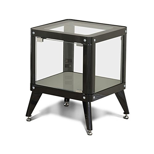 Furniture of America Elton Modern Metal Display Cabinet in Black by Furniture of America