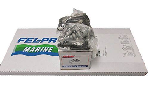 Marine Engine Gaskets - FEL-PRO Head Gasket Set & BOLTS for MERCRUISER CHEVY VORTEC MARINE 350 5.7L Engines