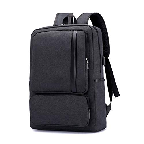 Black 6 New Travel 15 Bag Backpack Waterproof Business USB Men's zwdwqZ7