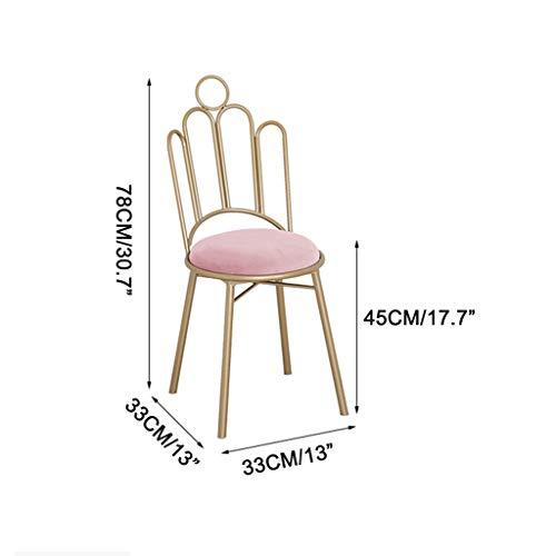 ZINIUKEJI modern sammet matstolar krona baksida metall stol ben, klädpall för vardagsrum sovrum kök, rosa